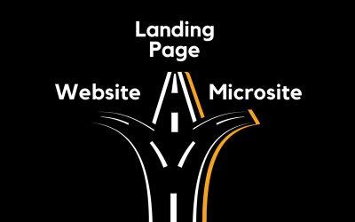 Qual devo usar: website, landing page ou microsite?